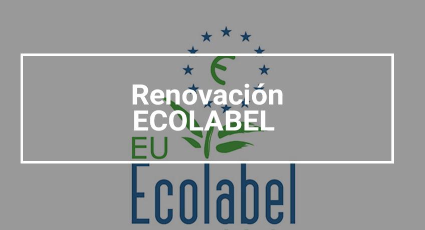Renovación Ecolabel