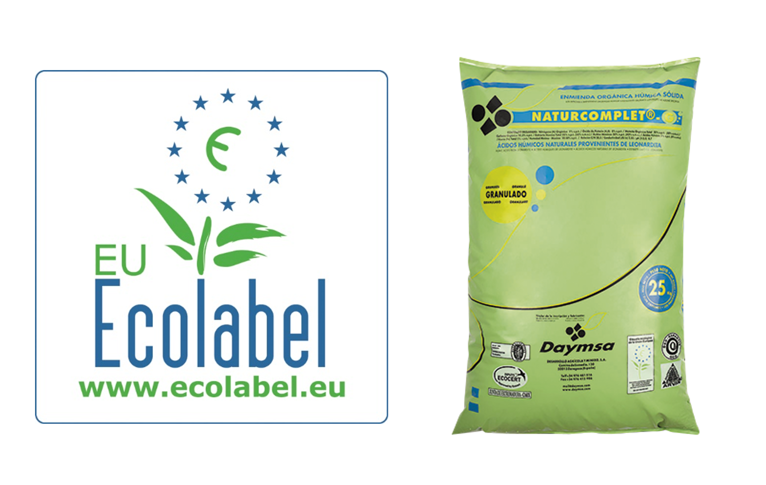 Daymsa obtains the renewal of Ecolabel organic certificationfor Naturcomplet®G