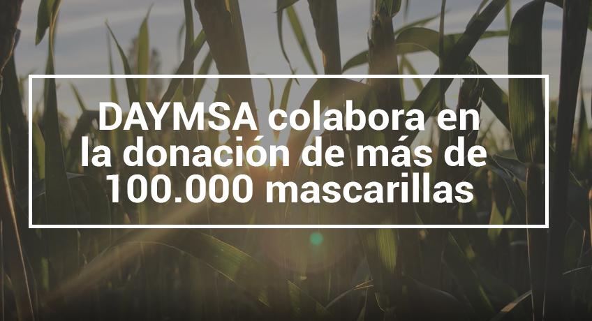 DAYMSA colabora en la donación de más de 100.000 mascarillas para los trabajadores del sector agrícola.